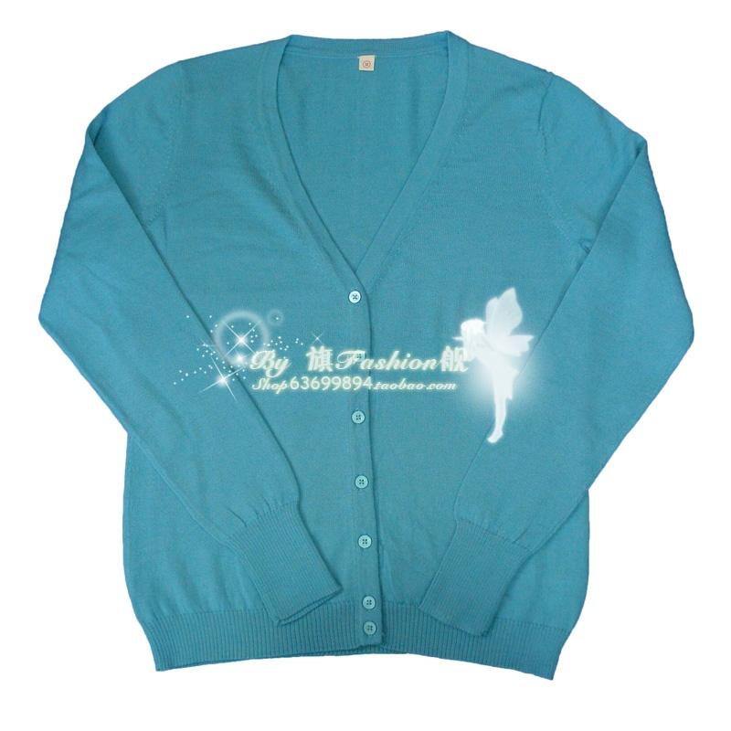 Свитер женский Excellent brand Овчина Длинный рукав Классический рукав V-образный вырез