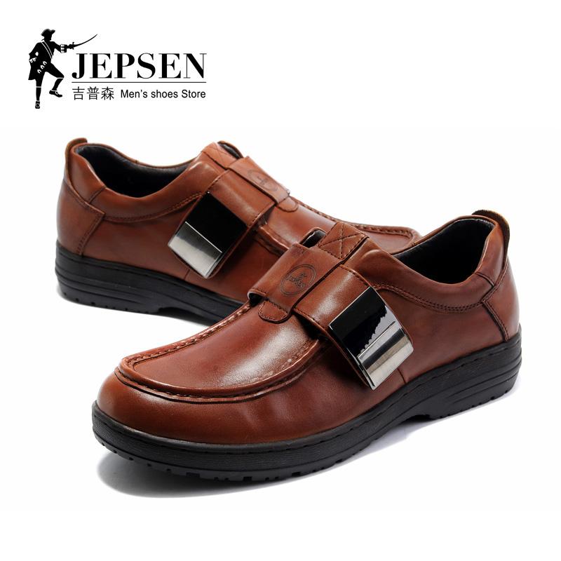 Демисезонные ботинки Jepsen r8281 Официальные Верхний слой из натуральной кожи Круглый носок Пряжка Зима