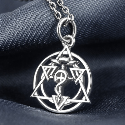 Xingyunshi Fashion Alchemist Silver Long Chain Unisex Necklace