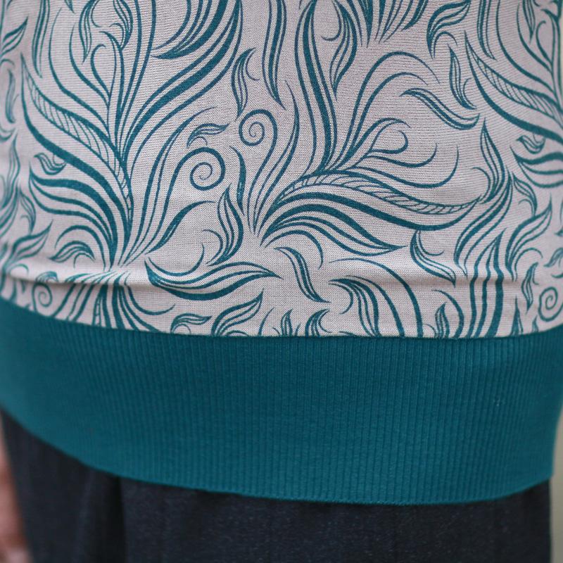 Одежда для дам Сокровища Mall новый осень картридж мать темперамент битой рукав t рубашки Кофты женщин среднего возраста свитер * 1901