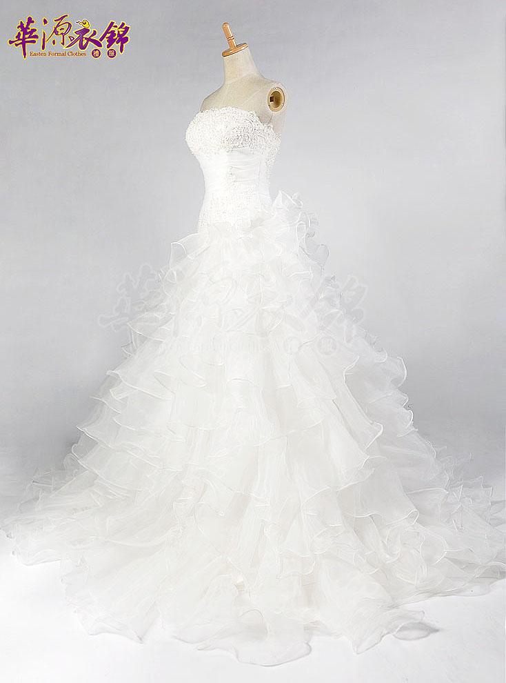 Свадебное платье Huayuan clothing Kam ah029 2012 Органза Небольшой шлейф Корейский