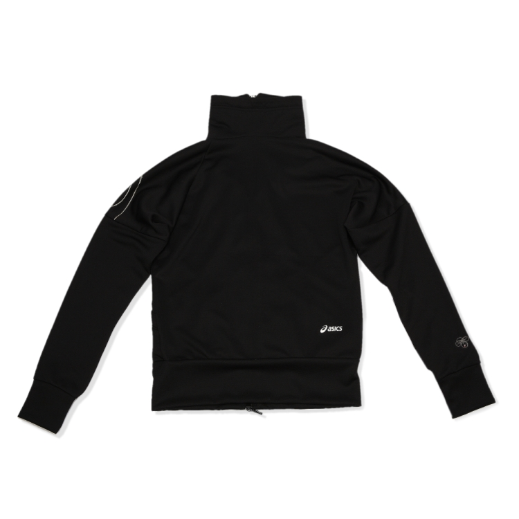 Спортивная куртка Asics cfk044/0090 CFK044-0090 Женские О-вырез Молния Бег Логотип бренда