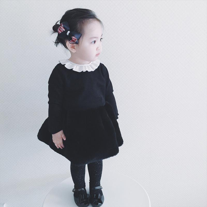 女童兔绒打底毛衣2016新款儿童冬装宝宝上衣韩版休闲百搭保暖卫衣