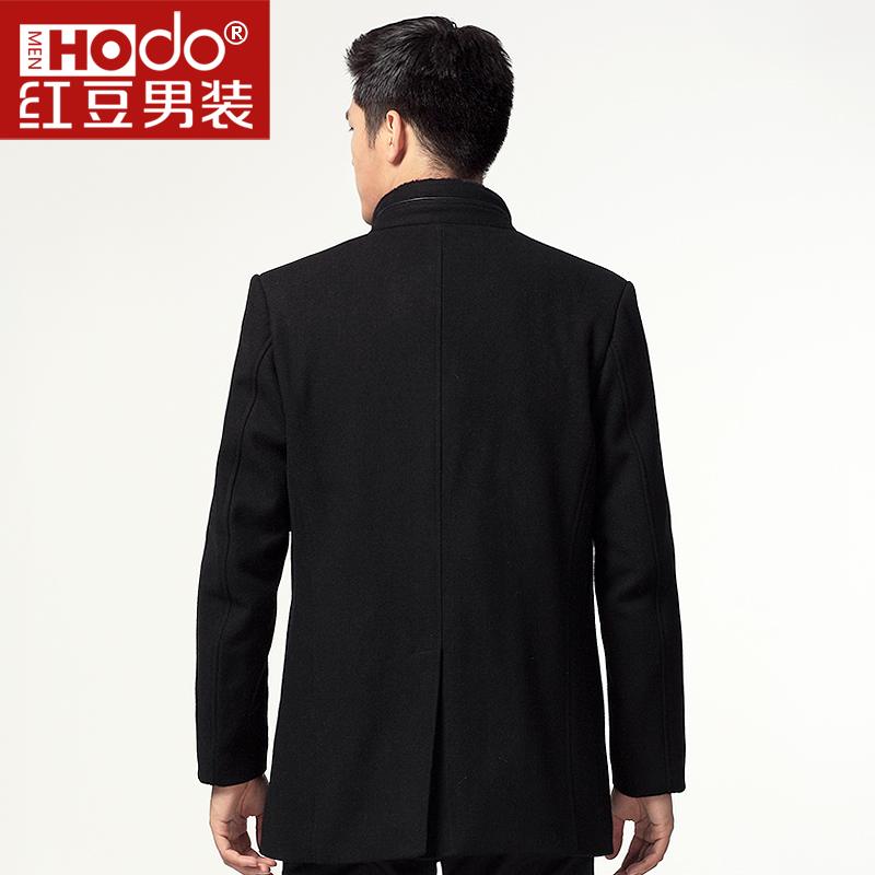 Пальто мужское Hodo 312 Шерстяная ткань для пальто Без воротника со стойкой