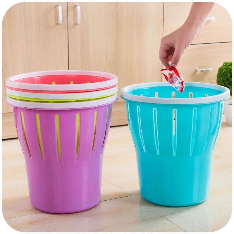 居家创意家用无盖客厅厨房卫生间卧室垃圾桶带压圈大号办公室纸篓