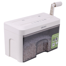 New Product Premiere Deli 9934 Hand-Shredder Mini Manual Paper Shredders Can Shred CDs Credit Cards