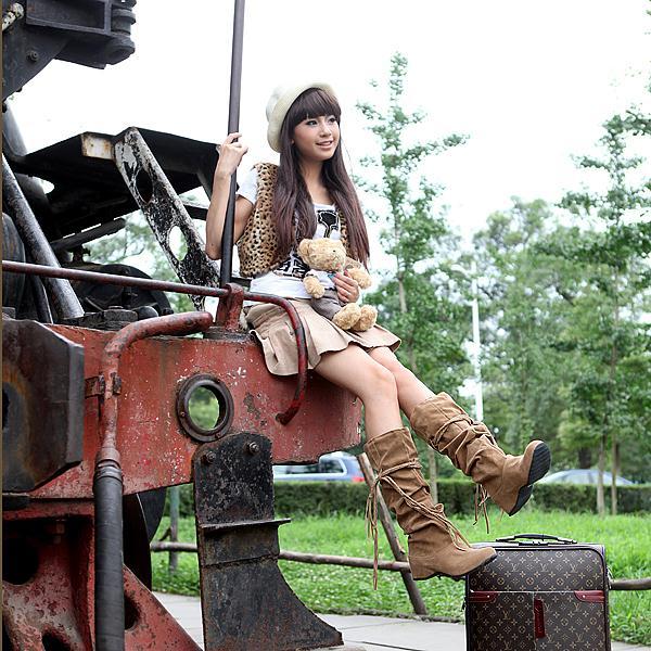 Женские сапоги 87424132 2012 Осенью 2011 года Высокие сапоги Без застежки