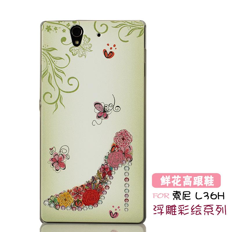 Цвет: Рельефный цветок высокий каблук