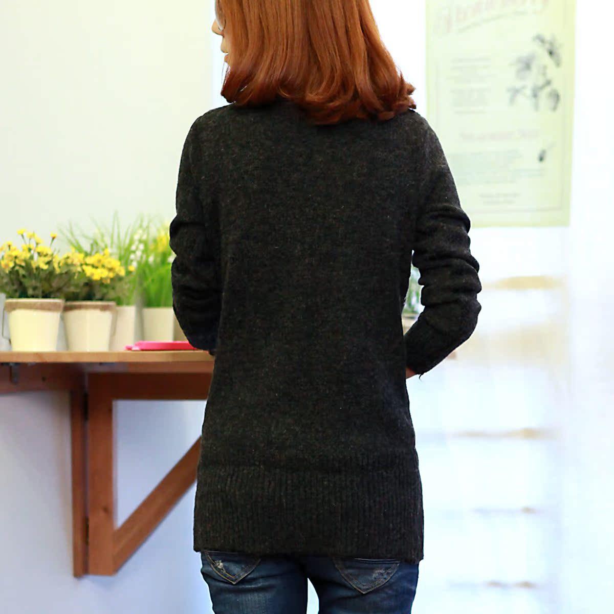 Свитер женский More brands 2012 хлопок осень 2012 длинный рукав классический рукав закругленный вырез