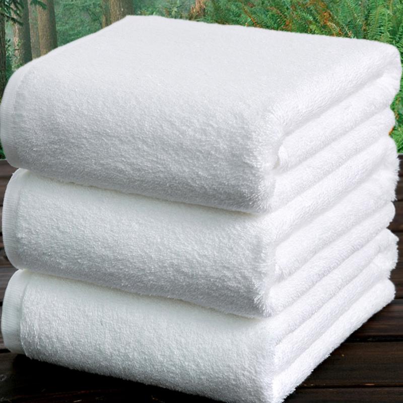 宾馆白浴巾纯棉成人加大加厚柔软裹胸美容院男女全棉酒店火疗毛巾