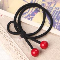 韩版可爱甜美红樱桃发绳发饰品皮筋头饰小清新发圈头绳