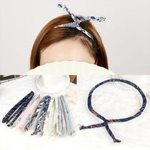 日韩版发饰百搭甜美交叉打结发带头带简约复古发箍头箍个性女