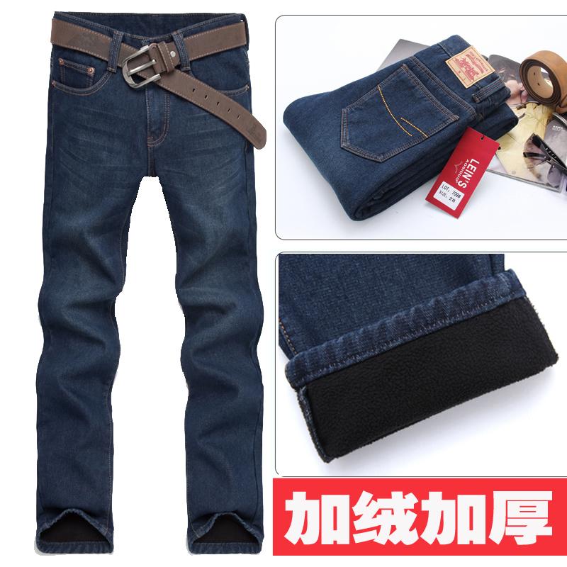 Джинсы мужские LEE . Прямые брюки (окружность голени=окружности отворота) Утеплённая джинсовая ткань Модная одежда для отдыха 2012