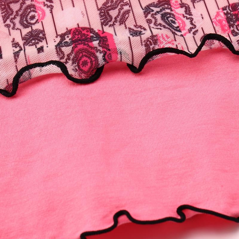 Майка Rubii rd10018 Девушки Осень Вискозное волокно Модифицированное вискозное волокно Бутоньерки Кружевная оборка