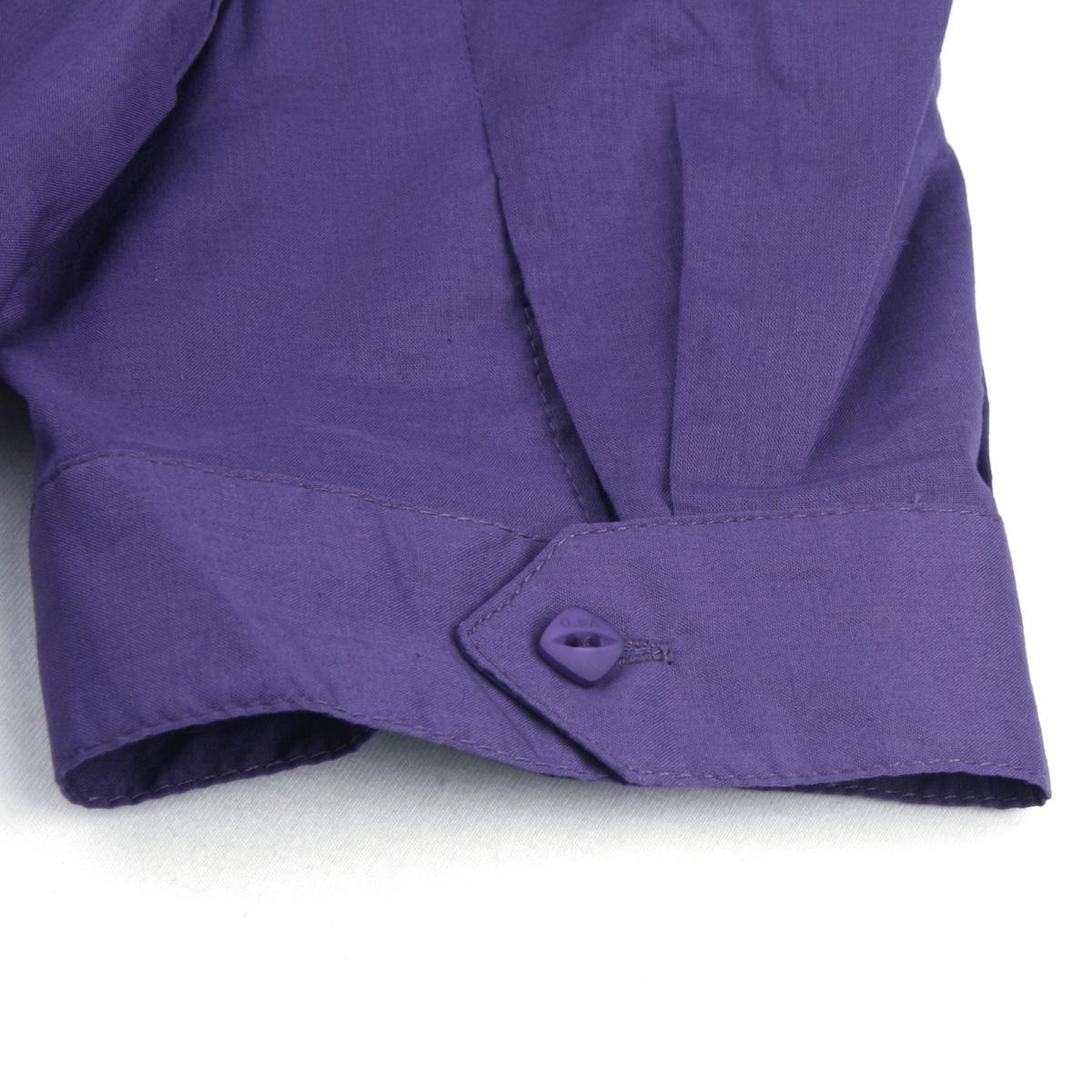 женская рубашка OSA SC90208 Ol C90208 Короткий рукав Однотонный цвет Закругленный вырез Один ряд пуговиц