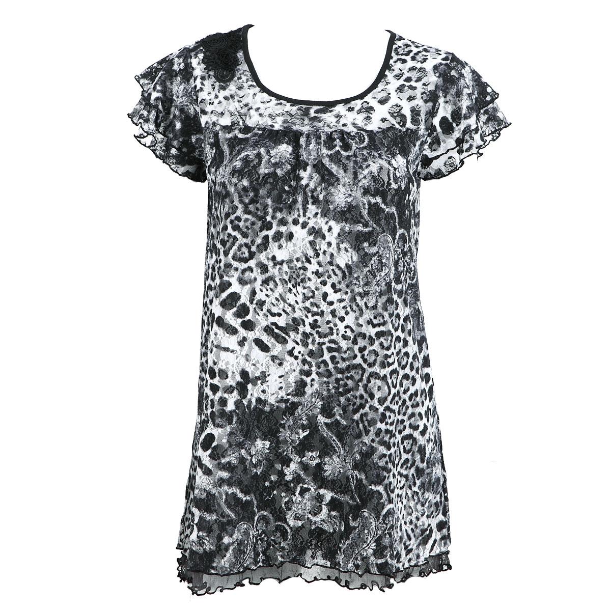 Цвет: Черно-белый леопард 7186