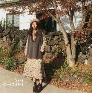 法式复古法国小众山本很仙过膝连衣裙子维多利亚两件套装女春秋季