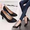 礼仪皮鞋工作单鞋空乘车模职业高跟鞋女秋黑色细跟3 5 7cm圆头ol