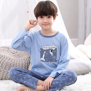 儿童睡衣男童春秋季长袖纯棉男孩小孩卡通冬季中大童秋天家居服