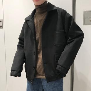 文艺男女店男士工装短款夹克学生翻领潮流大衣秋冬款外套上衣