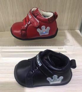 斯乃纳2018冬季女童学步鞋羊皮鞋