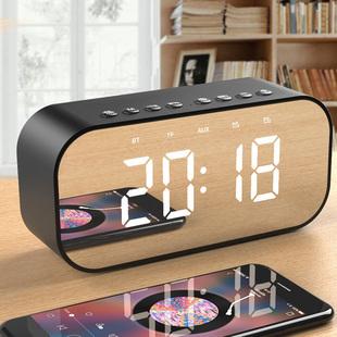 音乐闹钟创意学生静音床头夜光数字时钟儿童闹铃电子钟多功能音响
