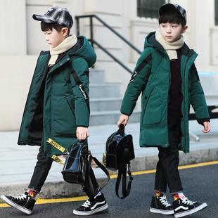 男童棉衣冬装中长2018加厚儿童羽绒棉服袄中大童童装