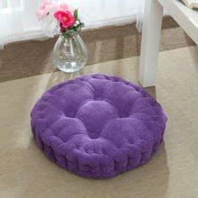 灯芯绒加厚圆形坐垫椅垫榻榻米藤椅座垫增高垫玉米绒圆凳纯色垫子