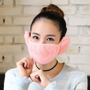口罩女冬护耳二合一耳罩时尚防寒可爱纯棉保暖易呼吸冬季个性