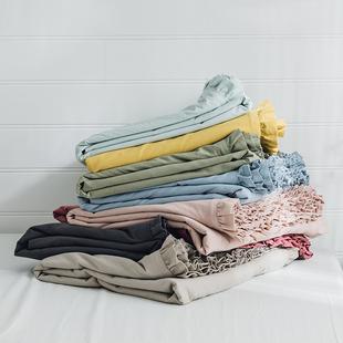 虾米的故事 全棉花边水洗棉被套单件 公主风双人单人宿舍床品1.5m