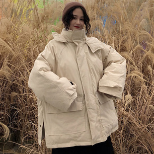 棉服女2018秋冬bf原宿风宽松加厚工装面包服棉衣外套学生