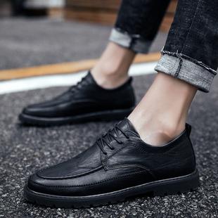 2018秋季男鞋男式商务潮鞋子雕花皮鞋英伦布洛克板鞋