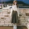 复古毛衣长裙女秋冬季学生法式少女文艺过膝冬裙洋气两件套装