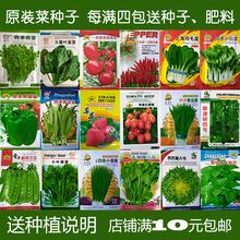 蔬菜种子套餐阳台种菜种四季易种水果菜籽萝卜夏秋季香菜草莓玉米
