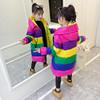 女童棉衣2018中长款女孩洋气秋冬棉服外套儿童棉袄中大童