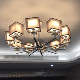 查看精选后现代风格简约水晶吊灯 设计师样板间创意led客厅餐厅卧室吊灯最新价格