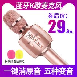 雅兰仕 全民K歌神器手机话筒音响一体无线家用唱歌蓝牙自带音响全能麦克风全名会议教师扩音器通用