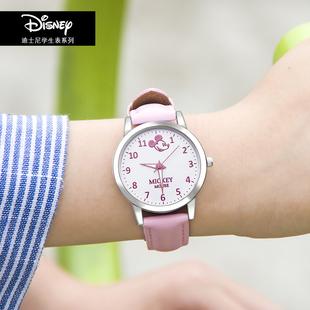 迪士尼儿童手表女孩可爱夜光防水时尚潮流简约小学生电子女童手表