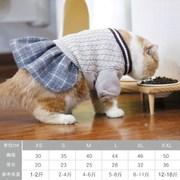 暹罗秋冬保暖无毛加厚小猫衣服猫毛衣幼短英猫可爱蓝猫咪猫宠物装