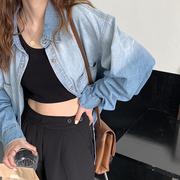 渐变色牛仔衬衫女学生2021韩版bf风大码宽松显瘦休闲衬衣外套