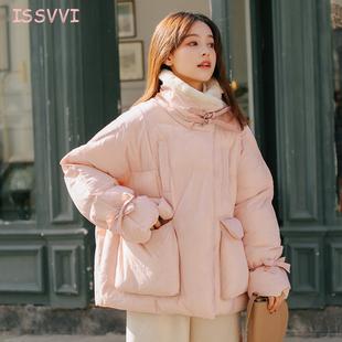 棉服女冬季外套加厚2018学生棉袄宽松bf短款面包服小清新棉衣