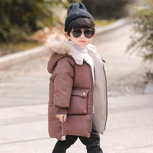 男童棉衣2018冬装加厚外套宝宝中长款棉袄小儿童冬季羽绒棉服