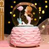 公主梦幻水晶球音乐盒旋转美人鱼飘雪八音盒女孩儿童玩具生日礼物