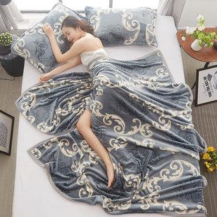 珊瑚薄款盖毯子夏季单人空调毛巾被子午睡法兰绒夏天办公室小毛毯