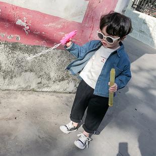 棉小班 男童牛仔衬衫2019儿童春装长袖潮衣宝宝洋气衬衣