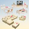 欧式沙发组合客厅整装简欧大小户型实木现代法式奢华贵妃真皮沙发