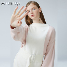 浏览淘宝Mind Bridge连衣裙中长款裙子女装百家好2019新款修身 MTOP725A价格