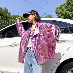 秋款情侣女2018嘻哈bf宽松外套棒球夹克春秋学生街头潮
