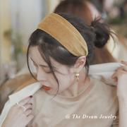 《流金岁月》复古港风发箍发带一体仙女毛线毛绒超仙宽边百搭外出
