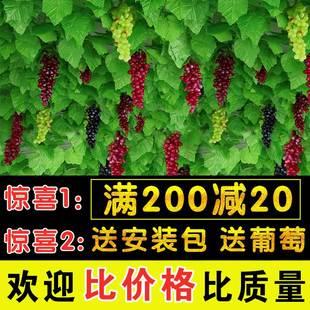 仿真葡萄叶树叶子绿叶塑料绿植物水管道缠绕假花藤条藤蔓吊顶装饰